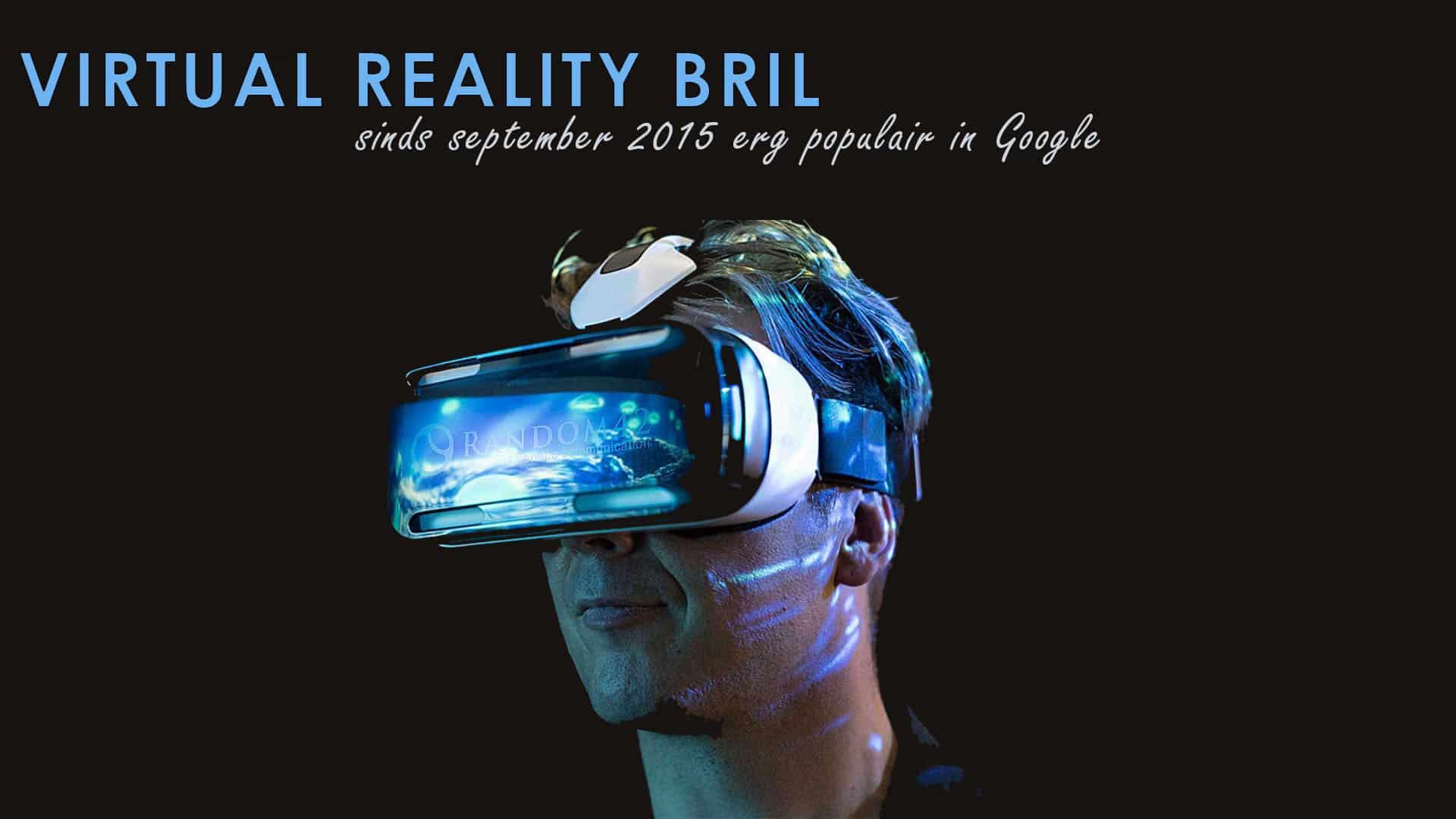 Virtual Reality bril populair Google